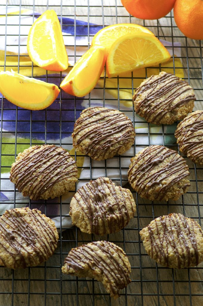 Orange Spiced Cookies with chocolate drizzle