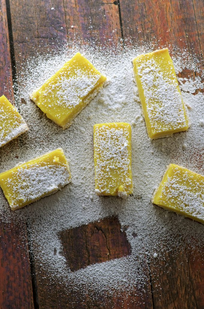 Vegan Meyer Lemon Bars. Addictively refreshing not too sweet dessert. Yes, we have these awesome Vegan Meyer Lemon Bars for you today but... could you help us out with an issue we're dealing with?