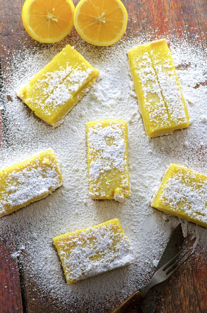 Vegan Meyer Lemon Bars. Refreshing and addictively not too sweet dessert.