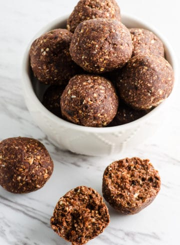 One Bowl Cocoa Nut Energy Bites