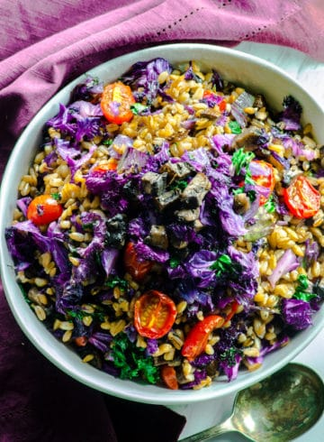 Purple Kale Farro Bowl