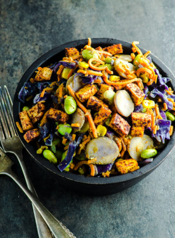 Sweet Potato Noodles Stir Fry with Peanut Sauce