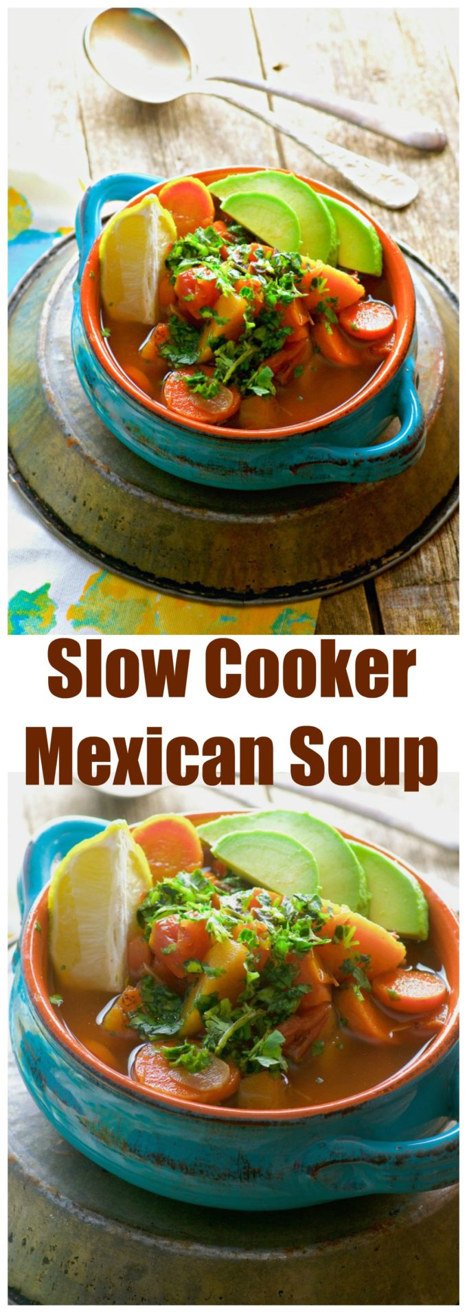 Set up this Slow Cooker Light Mexican Detox Soup before you leave in the morning, and come home to a delicious, comforting meal, perfect for a cold winter night.