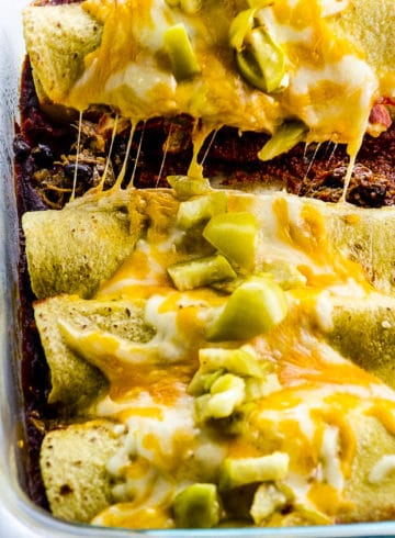 Pulled Jackfruit Enchiladas
