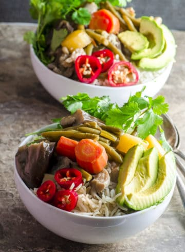 Thai inspired 30 minute Ginger Lemongrass Braised Vegetables vegan and gluten free