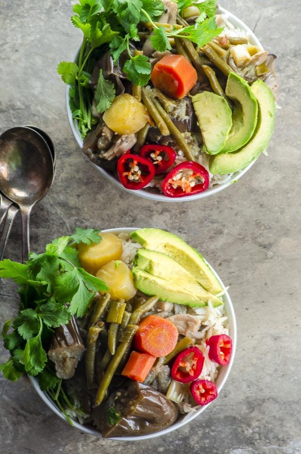 Thai inspired 30 minute Ginger Lemongrass Braised Vegetables vegan and gluten free