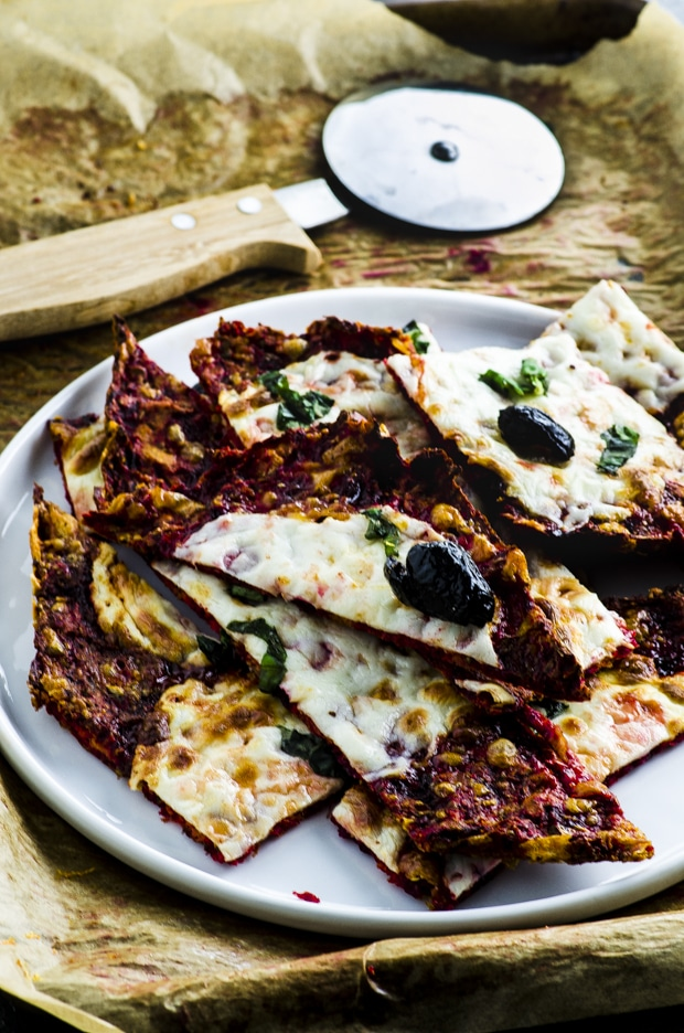 Beet and Cauliflower Crust Pizza