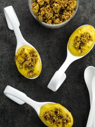 Golden Milk Cashew Cheesecake Bites-- Vegan, Dairy Free, Passover Recipe