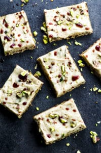 Not your everyday dessert, but a trendy tahini based halvah bars. These bars are absolutely irresistible! Vegan and gluten free!
