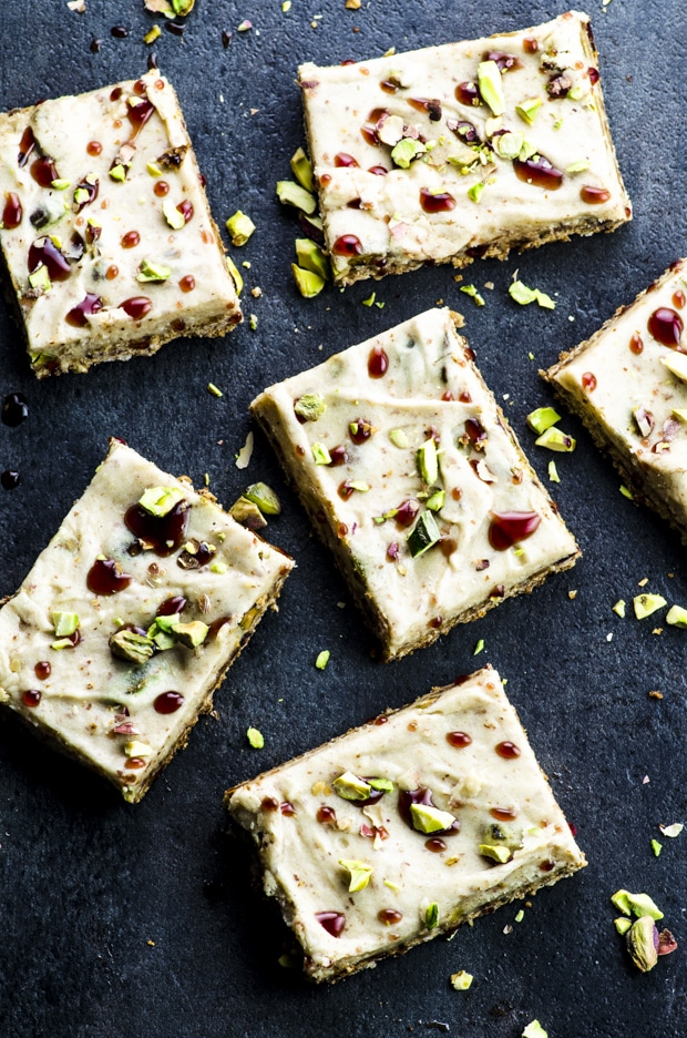 Recipes with dates:: Not your everyday dessert, but a trendy tahini based halvah bars. These bars are absolutely irresistible! Vegan and gluten free!