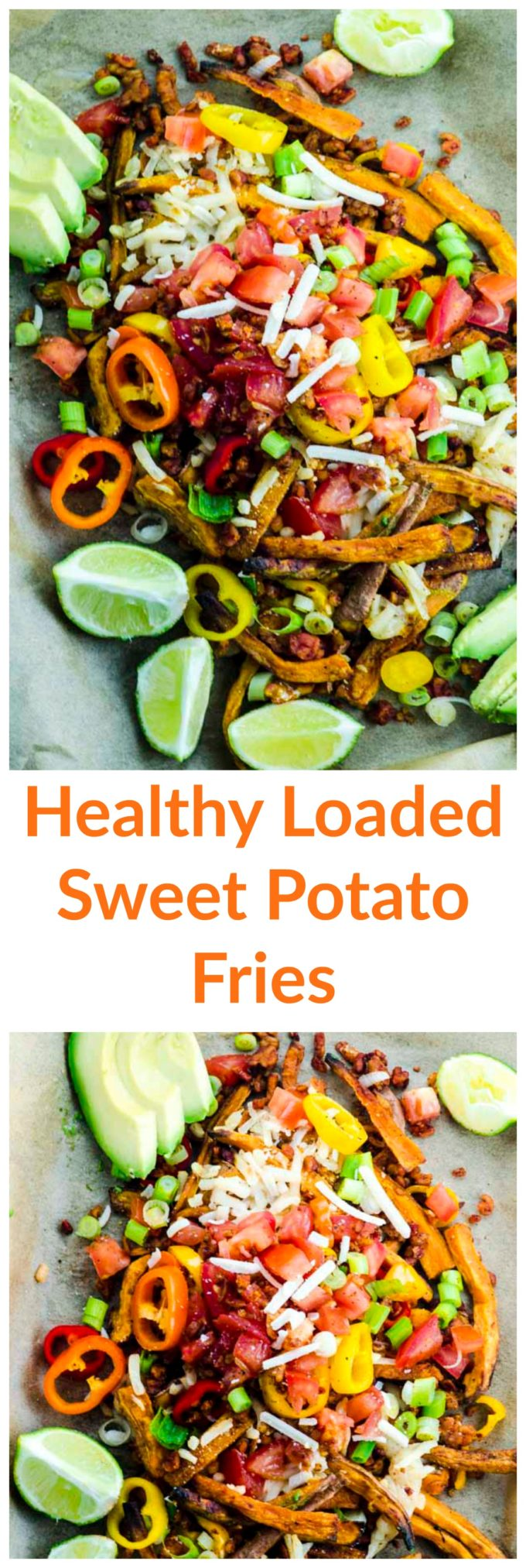 Healthy Sweet Potato Loaded Fries