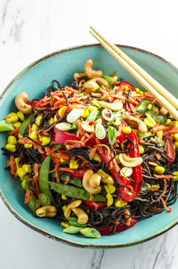 15 Minute High Protein Vegetable Lo Mein
