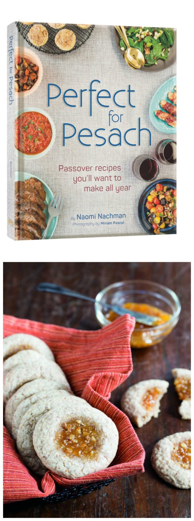 Great passover recipe for thumbprint cookies and a passover cookbook review