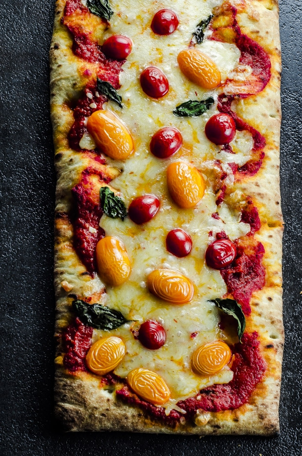 This 5 Ingredient Spicy Margherita Pizza is a fun twist on the Italian classic. Suoer easy, ready in 15 minutes and an unexpected addition to your Cinco de Mayo menu