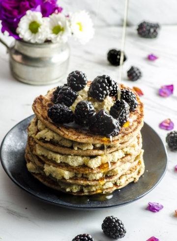 Vegan Whole Wheat Pancakes With Lemon Cashew Ricotta
