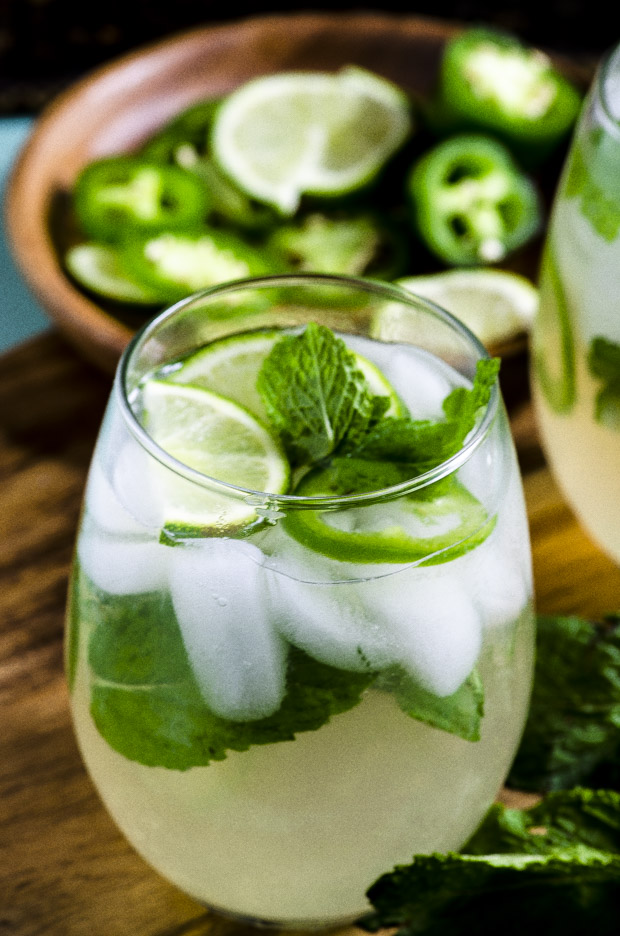 Jalapeño Mint Lime Ice Tea Spritzer - May I Have That Recipe
