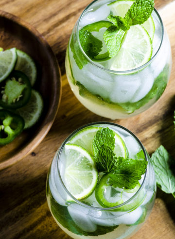 Jalapeño Mint Lime Ice Tea Spritzer