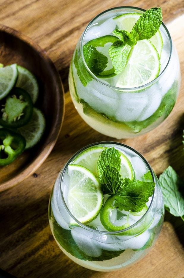 Jalapeno Lime Mint Ice Tea Spritzer