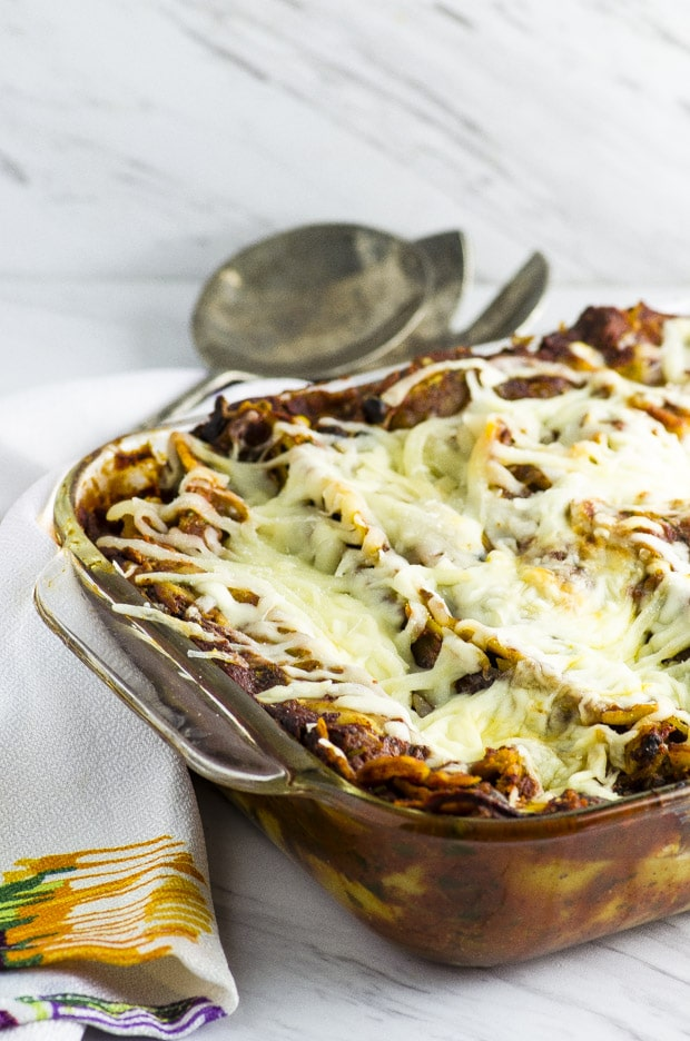 High Protein Mexican Lasagna - May I Have That Recipe