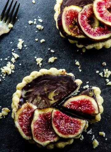 Fig And Tahini Truffle Tarts