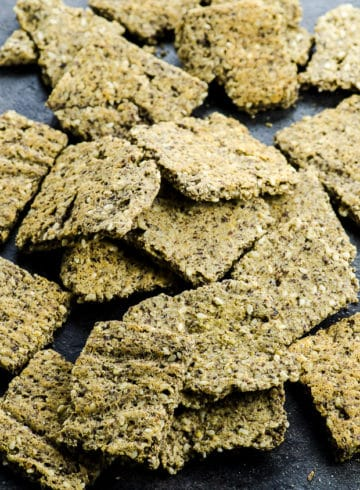Low Carb Vegan Protein Crackers