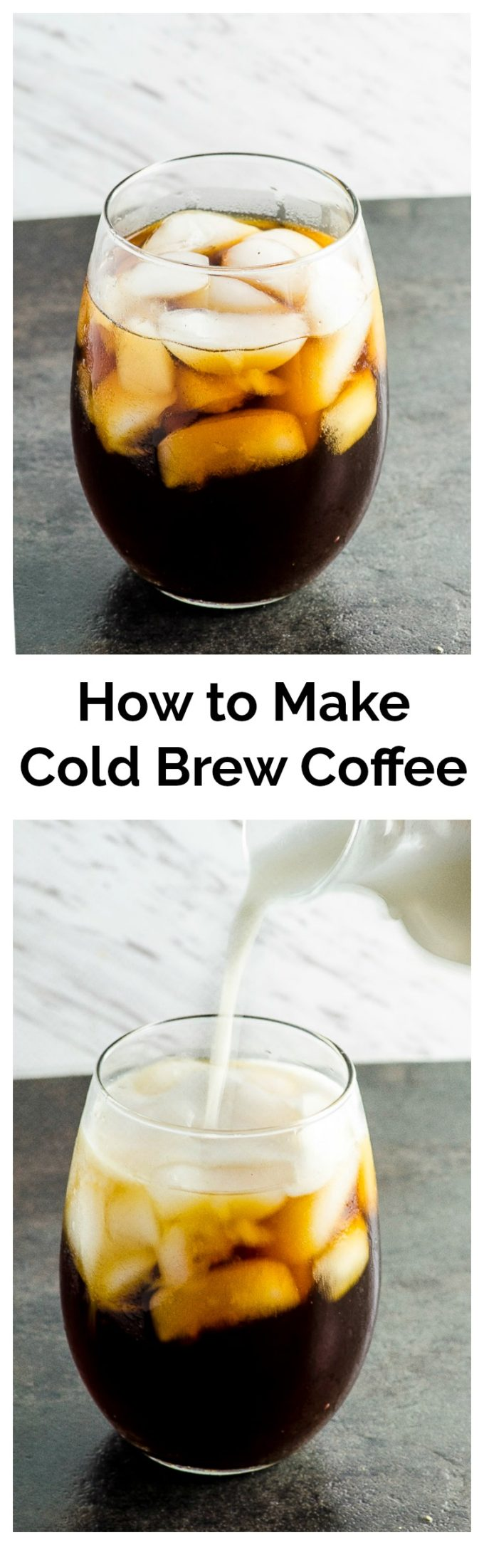 How to make Cold brew. You've probably seen cold brew coffee pop up all over the place lately. But, what exactly is cold brew coffee? To put it simply, it's coffee that is brewed in cold, not hot, water. The result is a smooth, less acidic coffee where its true flavor shines without being bitter... Click to read more