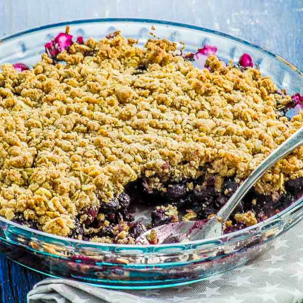 Vegan Blueberry Crumble May I Have That Recipe