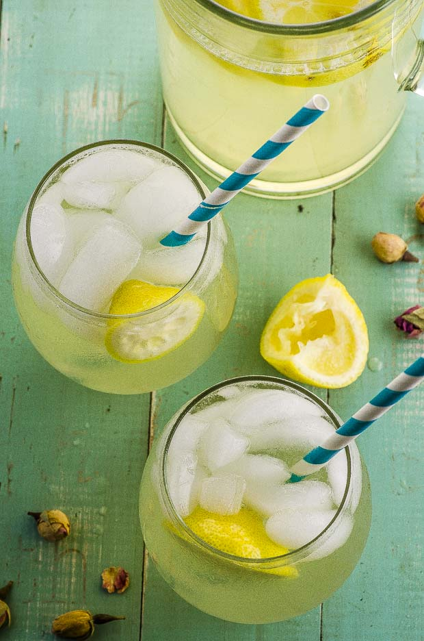 Enjoy the last weeks of summer with this refreshing and unique Rosewater Lemonade . Sweetened with agave nectar and maple syrup and with beautiful floral notes.