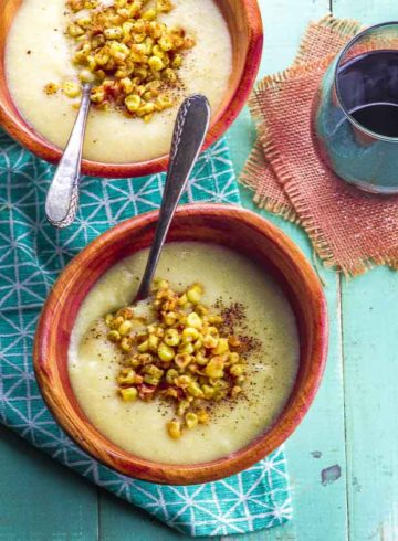 Vegan Creamy Corn Soup