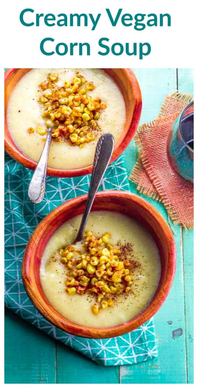 Our Creamy Vegan Corn Soup brings together the sweetness of summer corn with a velvety potato base for a satisfying soup that can be served cold or hot, and take you from late summer to fall!