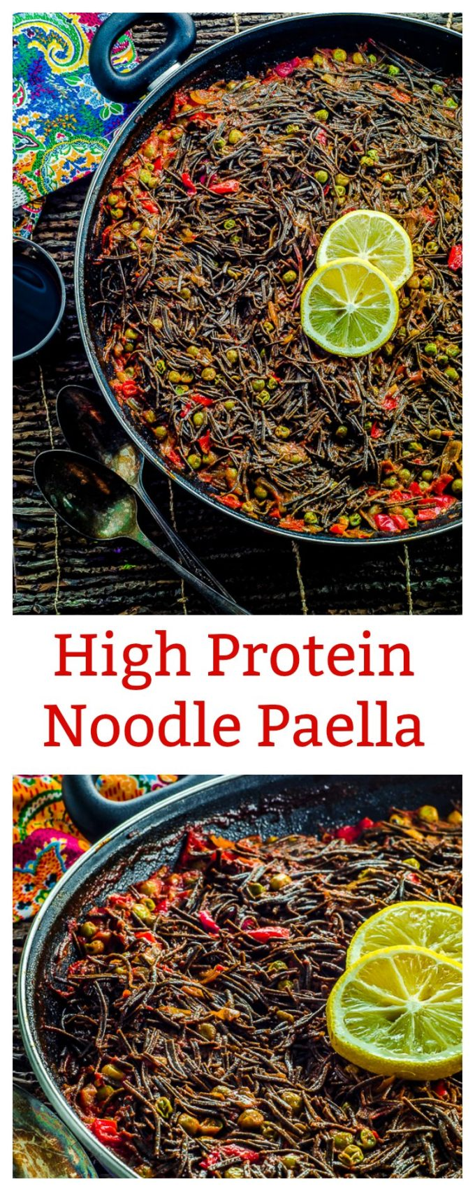 "This High Protein Noodle Paella is a vegan version of a popular Spanish dish called ""Fideua"", traditionally made with fish and shellfish."