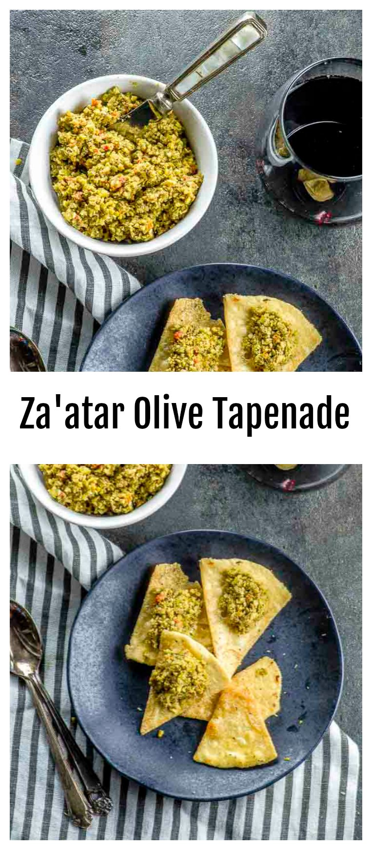 Simply the Best Za'atar Olive Tapenade. A Healthy Vegan Dip That Takes Summer Vegetables from Simple to Sublime