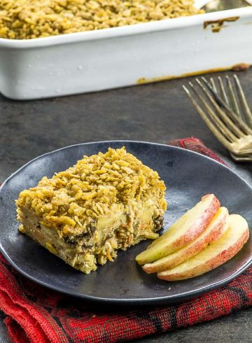 High Protein Apple Noodle Kugel