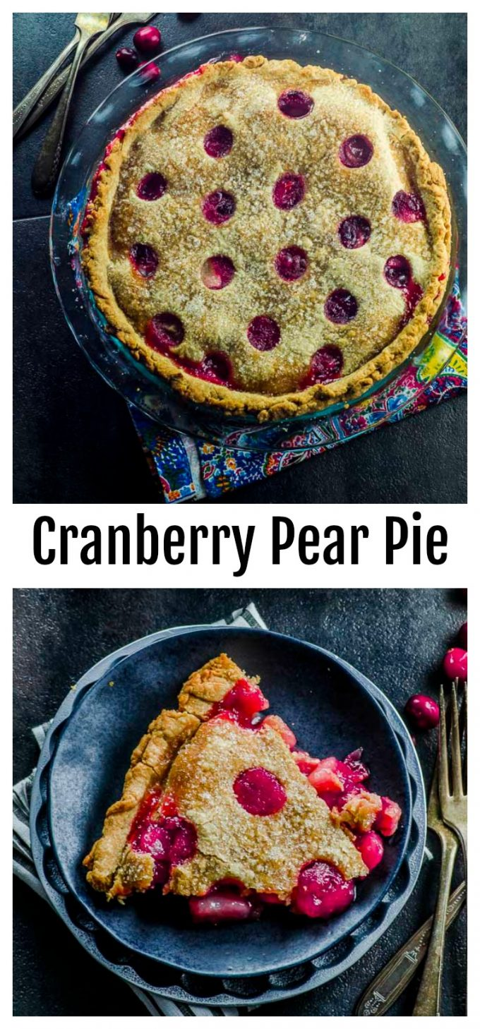 This vegan Cranberry Pear Pie is the perfect wait to end your Thanksgiving meal. With the right balance of sweet and tart, and pretty to look at! Check out our recipe with step by step instructions.
