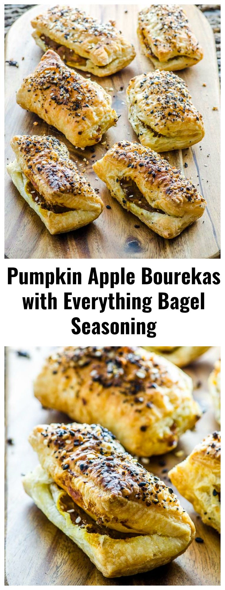 There are appetizers... and then there are these Pumpkin Apple Bourekas with Everything Bagel Seasoning! Crunchy on the outside, velvety and buttery on the inside, topped with everything bagel seasoning for a punch of flavor. A heavenly bite of goodness!