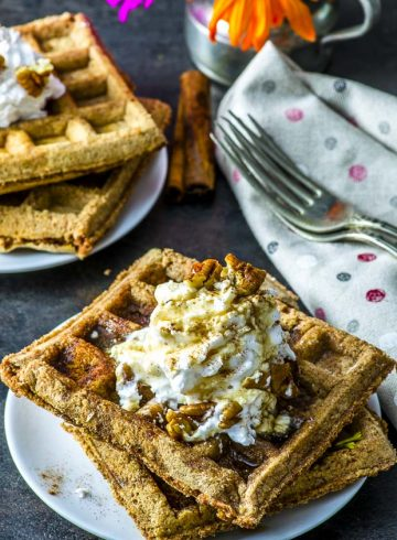 Gingerbread Vegan Waffles