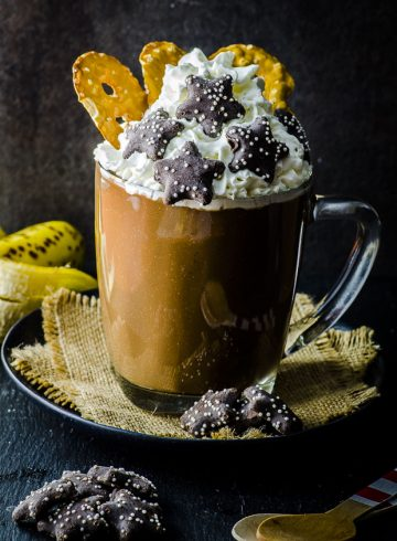Peanut Butter Banana Vegan Hot Chocolate