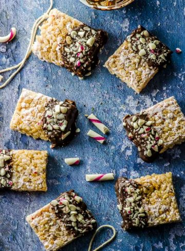 Vegan Peppermint Chocolate Rice Crispy Treats