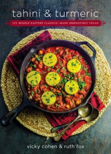 cookbook cover of Tahini and Turmeric, 101 Middle Eastern Classic Made Irresistibly vegan