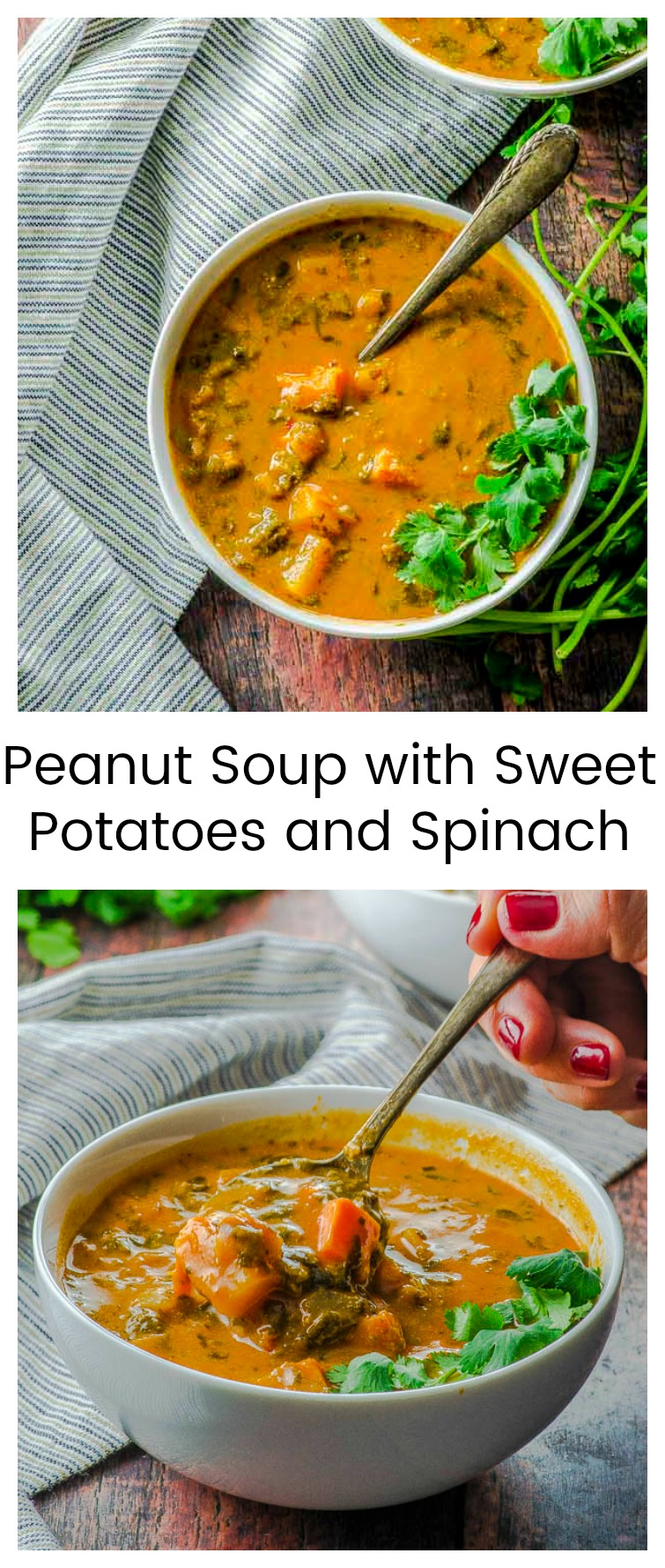When you're looking for a creamy, nutritious, and deliciously exotic soup, our Peanut Soup with sweet potatoes and spinach will impress your guests and satisfy your hunger for hours. A super delicious way to get your daily vegetable intake.