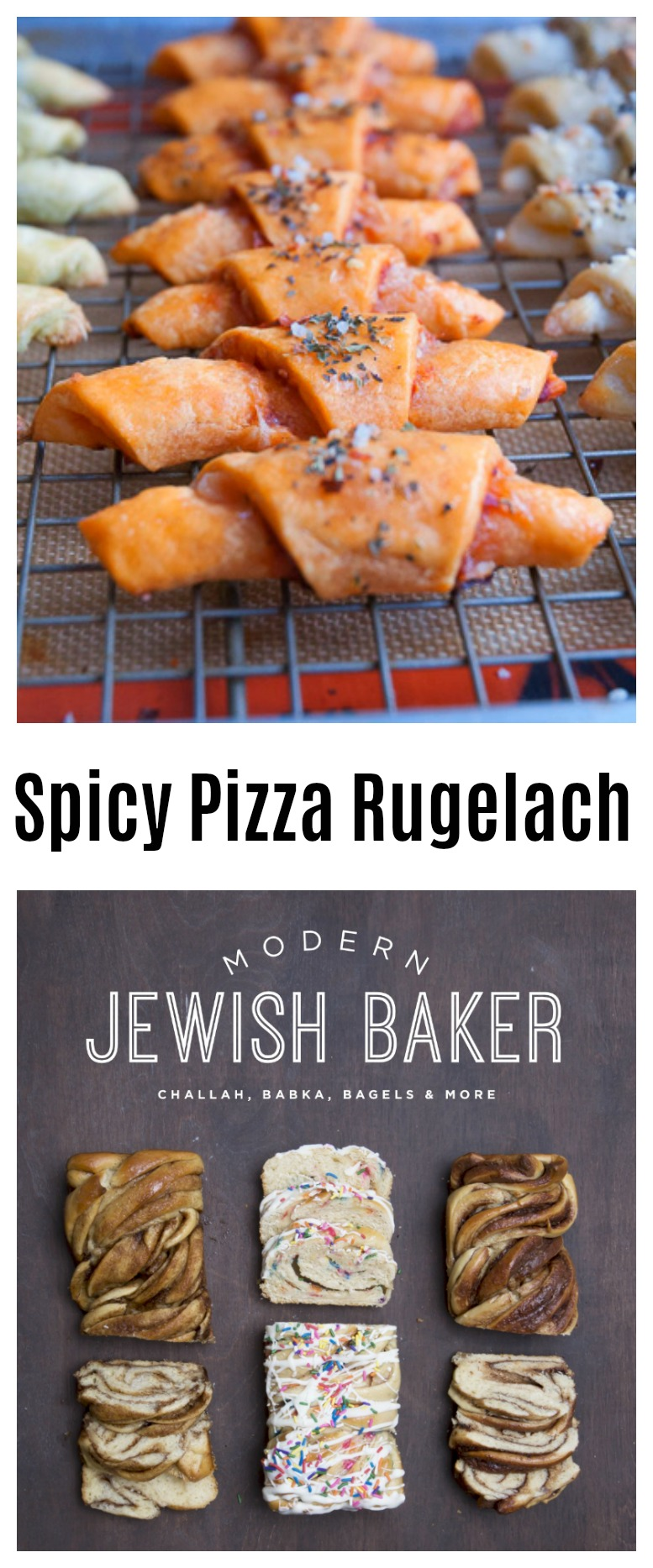 This Spicy Pizza Rugelach recipe, is only one of the many inventive and creative recipes included in Shannon Sarna's first cookbook Modern Jewish Baker.