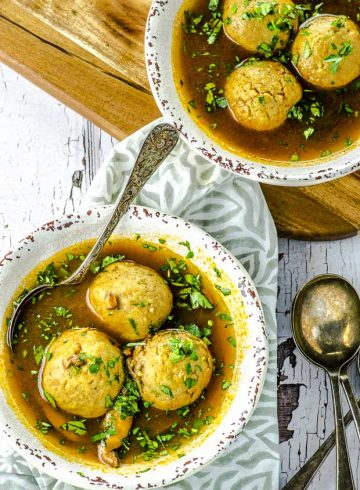 The Best Vegetarian Matzo Ball Soup