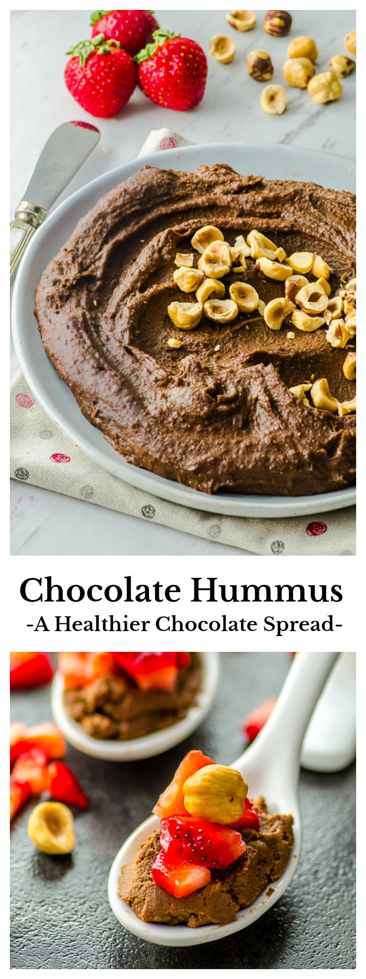 Our Chocolate Hummus recipe brings together the rich taste of chocolate with the creaminess of ground chickpeas for a sweet and healthy dessert-spread that's easy to prepare without any cooking time.
