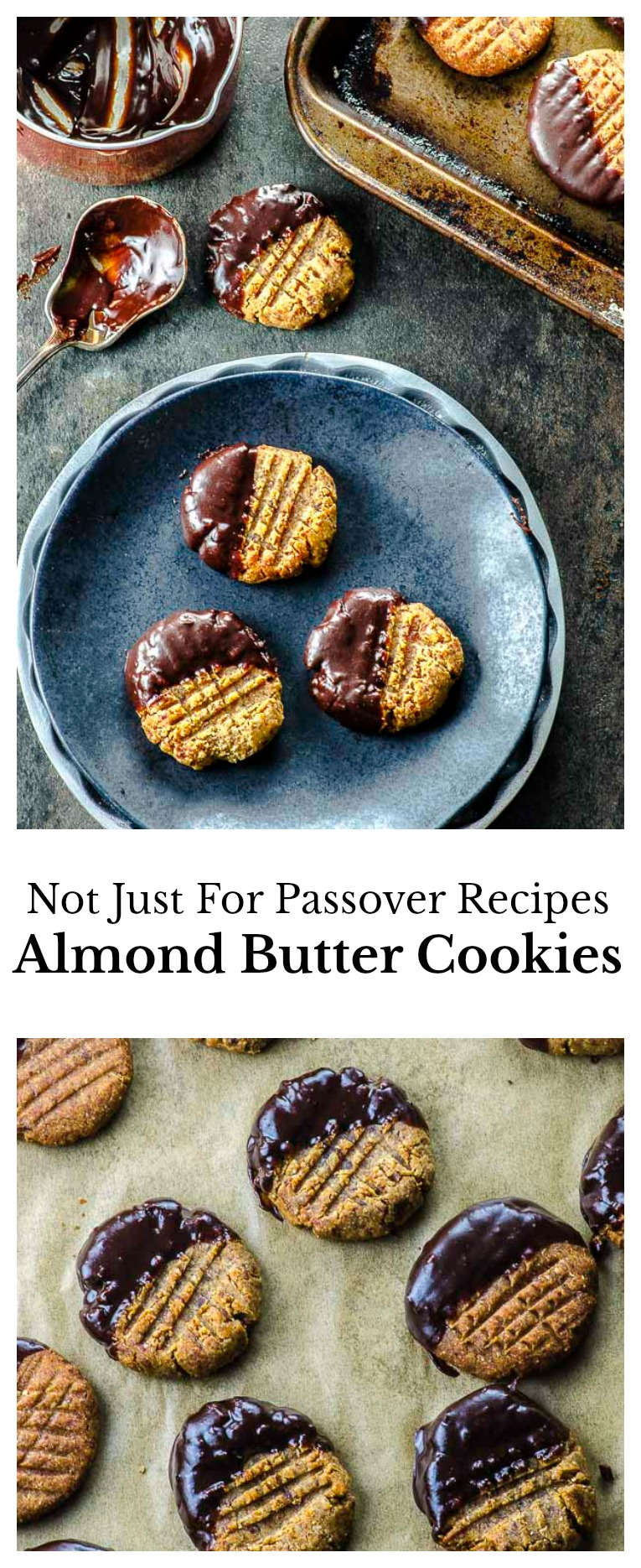 Chewy and delicious gluten-free almond butter cookies sweetened with dates and with only 5 ingredients!