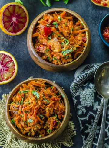 Moroccan Harissa Carrot Salad