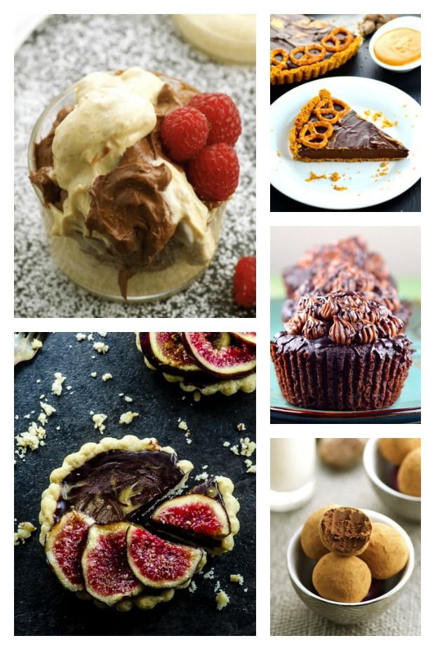 collage of 5 chocolate recipes pictures