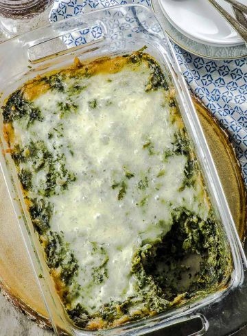 High Protein Spinach Pasta Bake