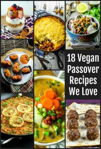 Vegan Passover Recipes collage