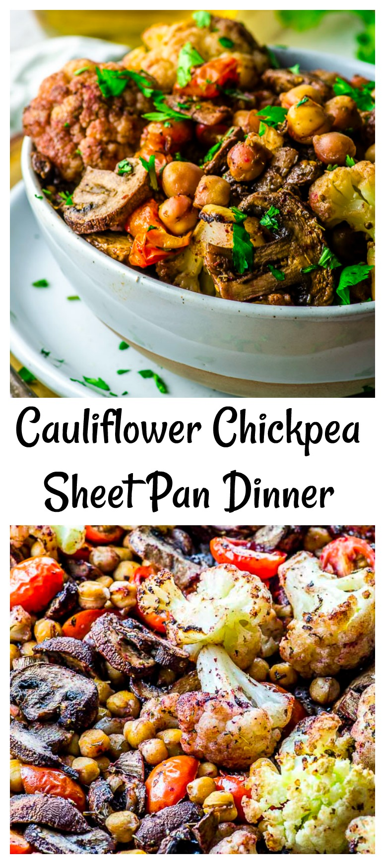 Love sheet pan dinners? So do we! 5 minute of prep time, 30 minutes in the oven, and done. And the combinations are endless! We see a lot of these in our future... We're starting with a Vegan Cauliflower Chickpea Sheet Pan Dinner that packs so much flavor, it will knock your socks off.