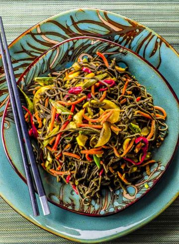 High Protein Singapore Noodles